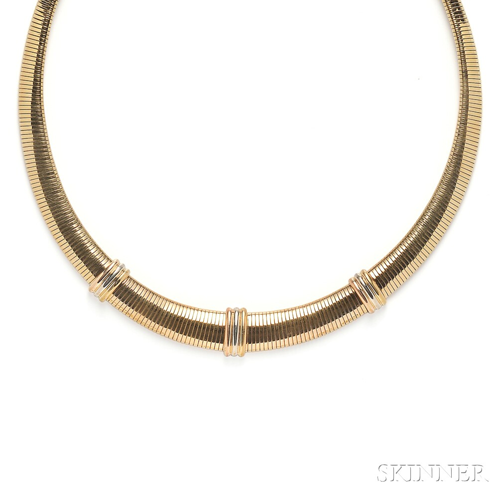 """18kt Gold """"Trinity"""" Necklace, Cartier"""