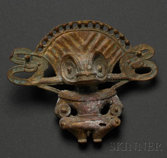 Pre-Columbian Tumbaga Figural Pendant