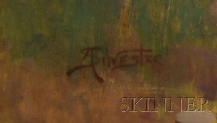 Albert Henri Louis Silvestre (Swiss, 1869-1954)      Rocky River's Edge.