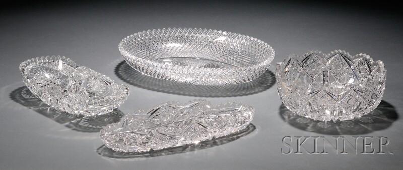 Four Cut Glass Bowls