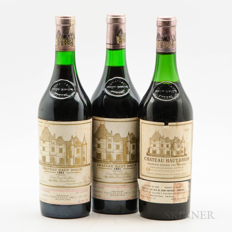 Chateau Haut Brion, 3 bottles