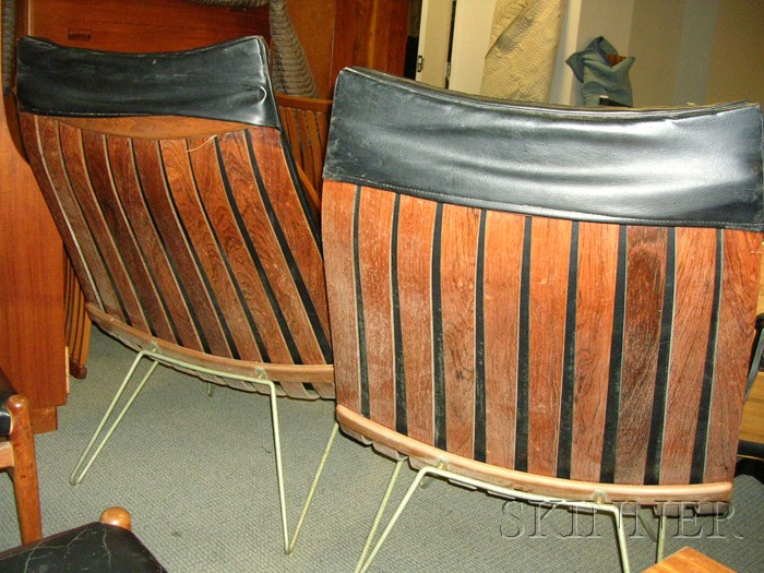 Two Hans Brattrud Scandia Lounge Chairs Sale Number 2531B Lot Number 546
