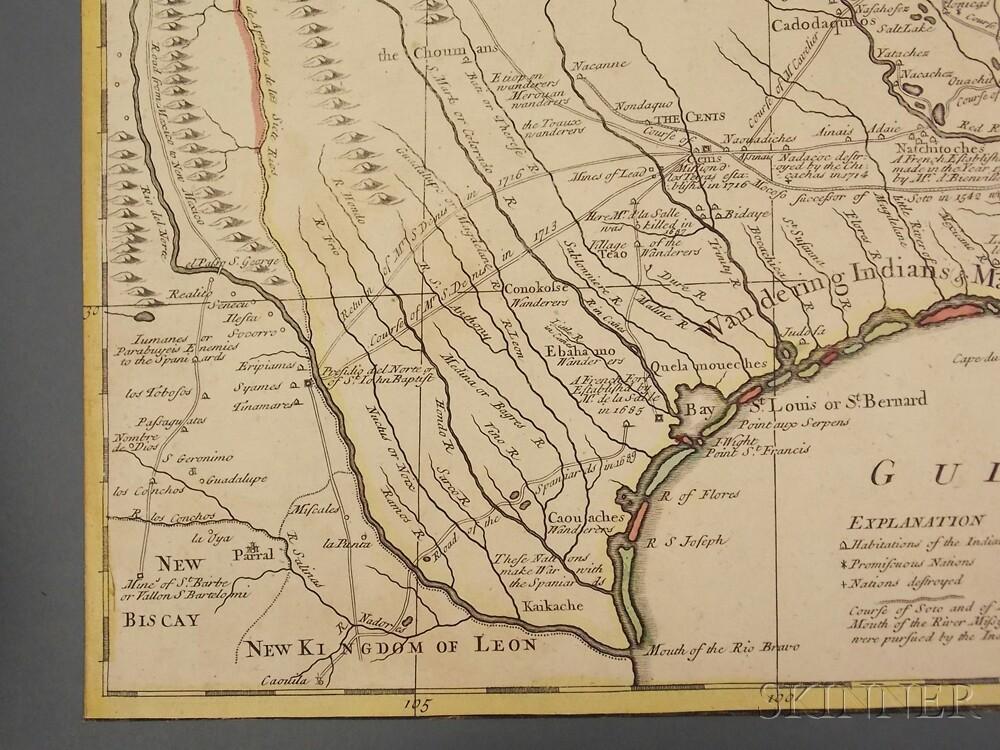 Louisiana, Texas, Gulf Coast, Great Lakes, and the Mississippi. John Senex (1678-1740) A Map of Louisiana and of the River Mississippi.