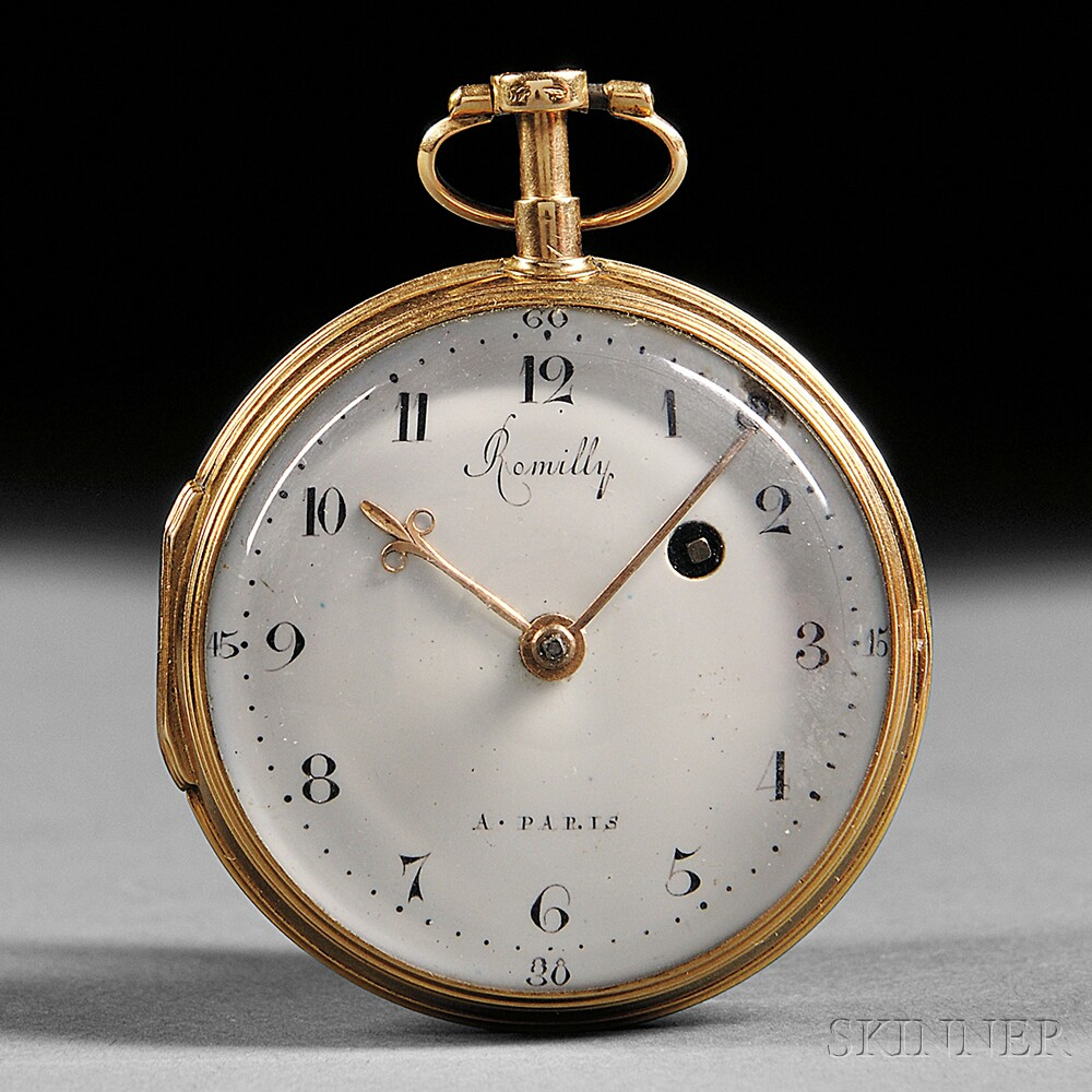 Romilly 18kt Gold Verge Pocket Watch
