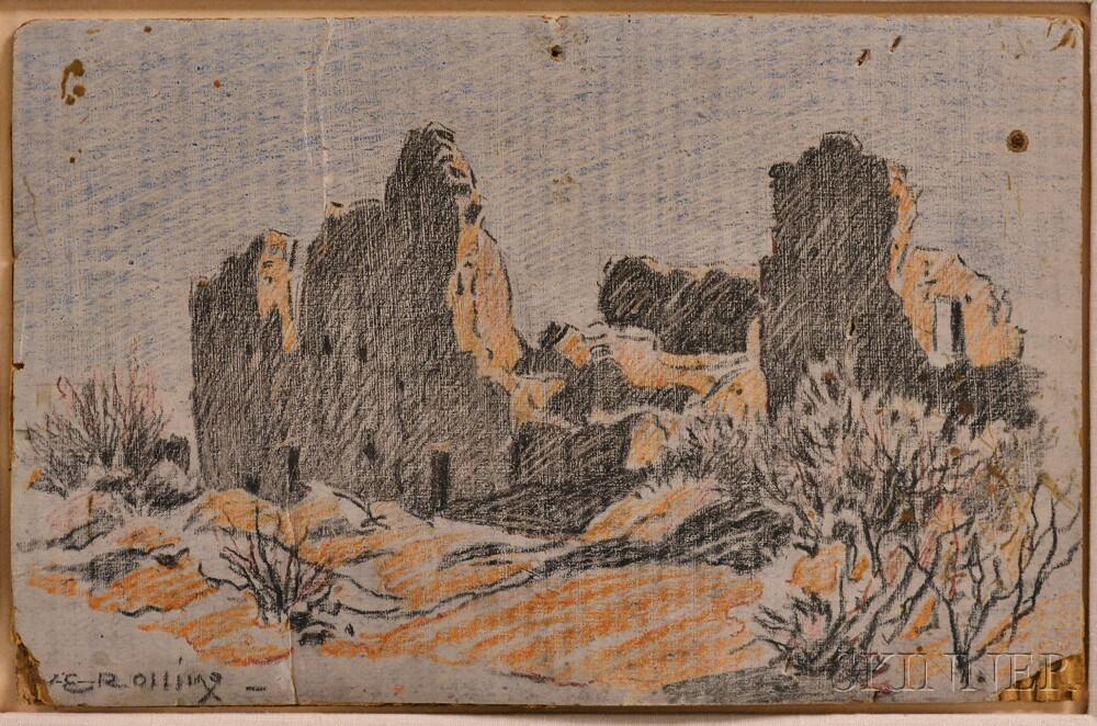 Ethelda L. Rollins (American, 1852-1922)      Adobes