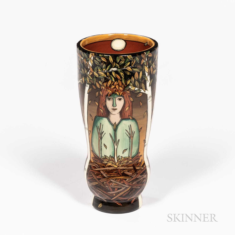 Terri Kern for Rookwood Pottery Shades of Change   Portrait Vase