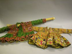 Two Ethnographic Childrens Embroidered Cotton Dresses.