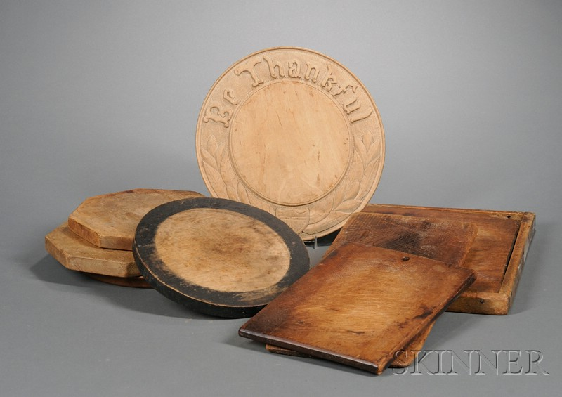 Eight Wooden Cutting Boards