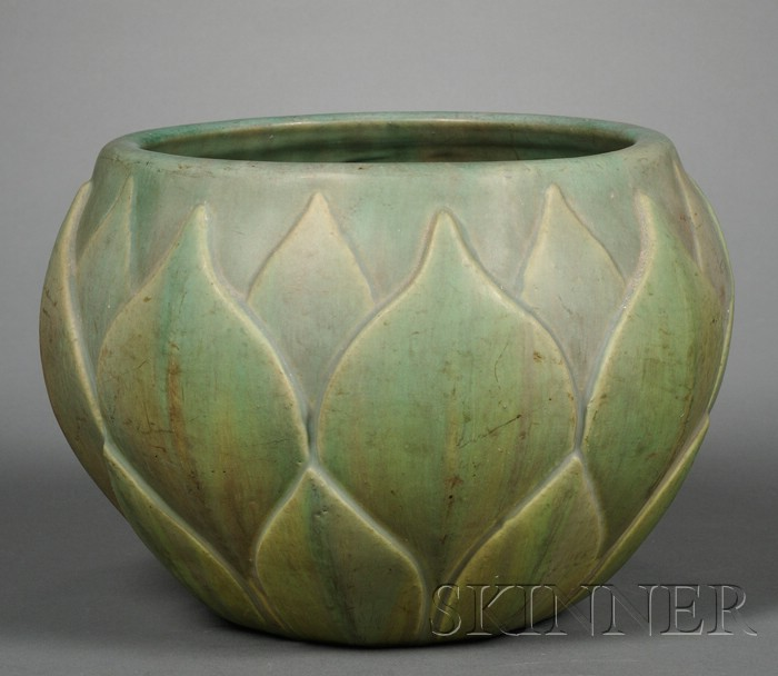 Artichoke-form Pottery Jardiniere
