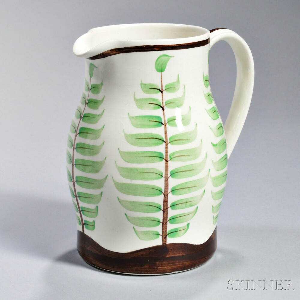Wedgwood Queen's Ware Hand-painted Pitcher