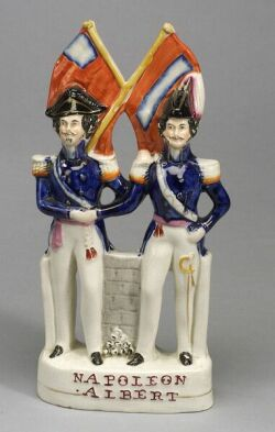 Victorian Staffordshire Figure of Napoleon and Albert