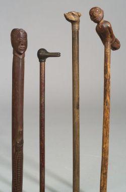 Four Folk Art Canes