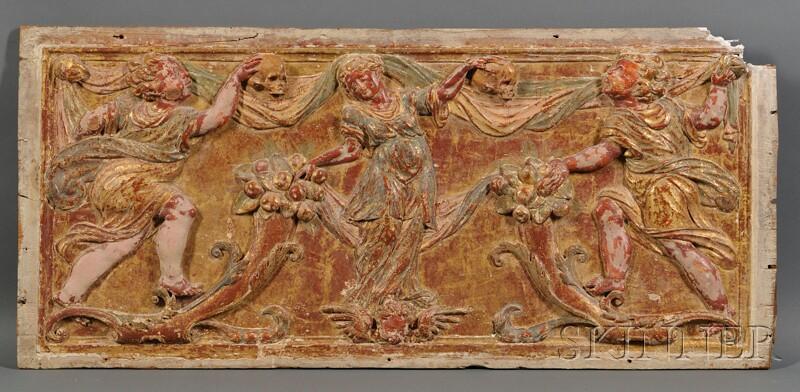 Gilt-gesso Carved Panel