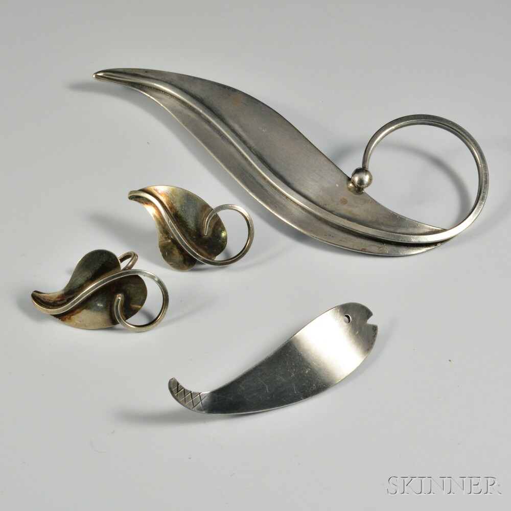 Three Pieces of Paul Lobel Sterling Silver Jewelry