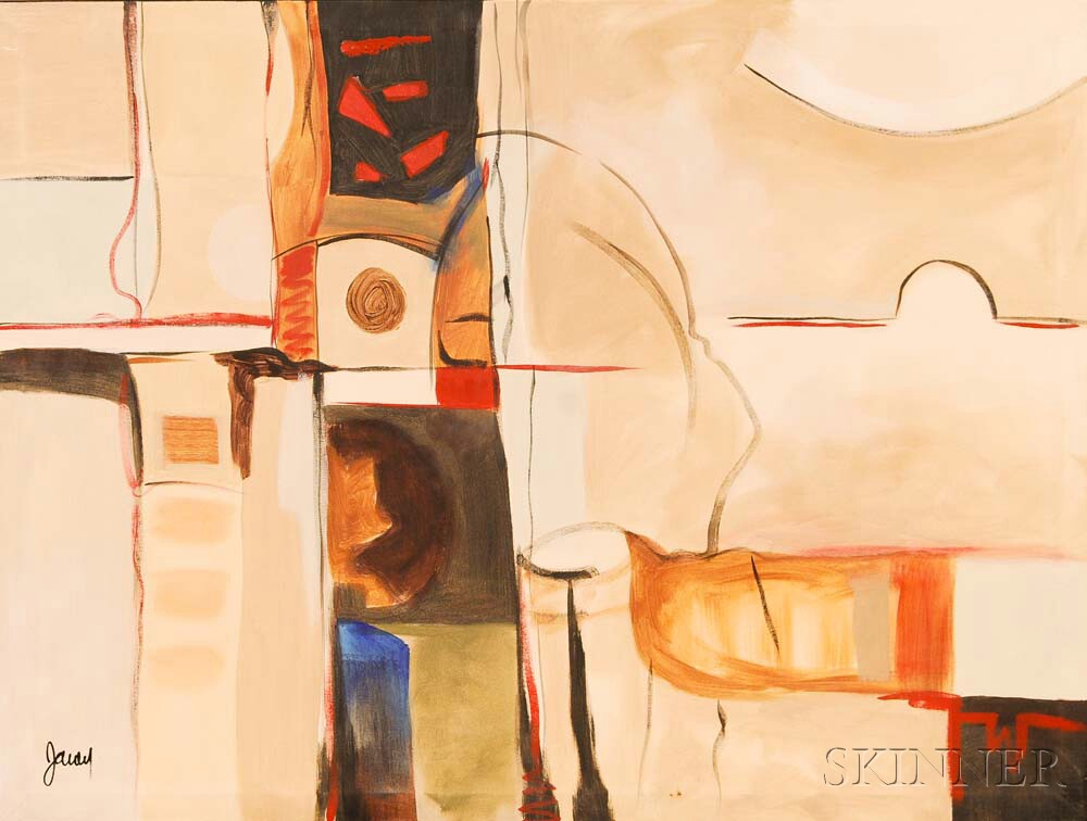 Large Modern Abstract Oil on Canvas