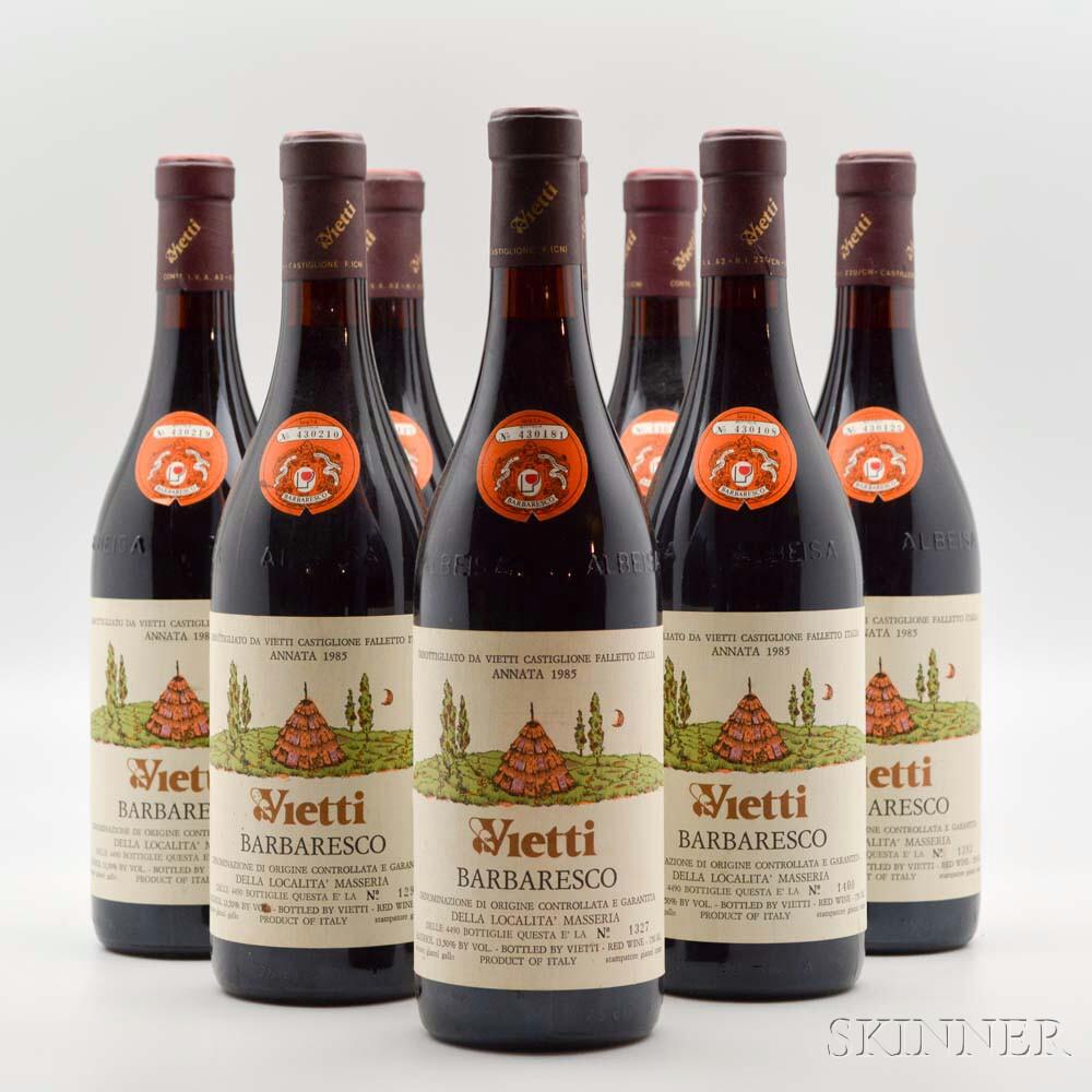 Vietti Barbaresco 1985, 9 bottles