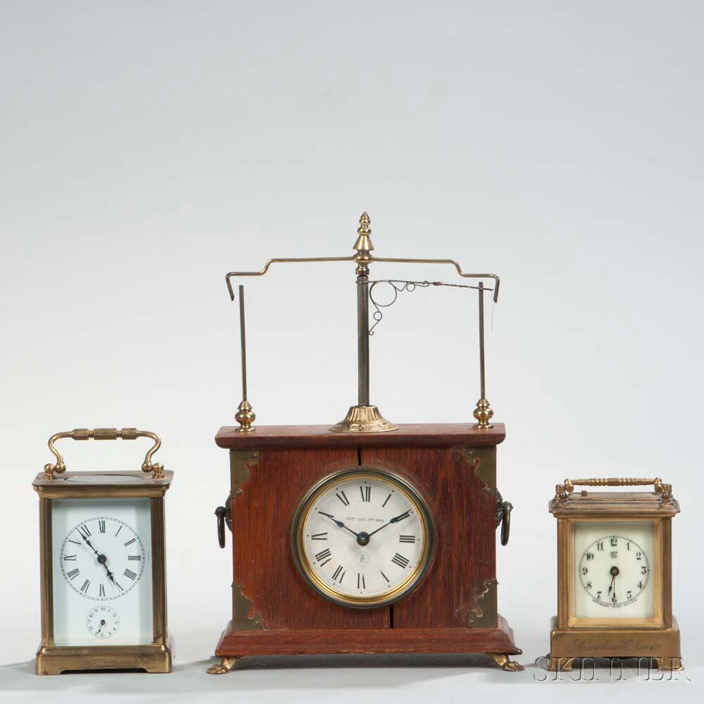 Flying Pendulum Ignatz and Two Carriage Clocks