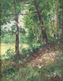 Henry Hammond Ahl (American, 1869-1953)  Path Through the Woods