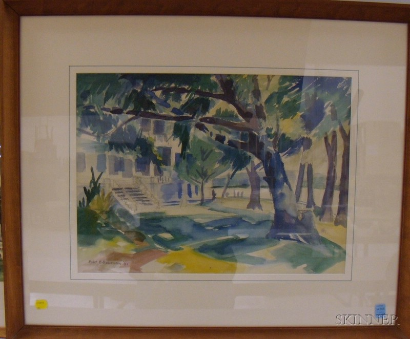 Three Framed Watercolor on Paper/board Landscapes