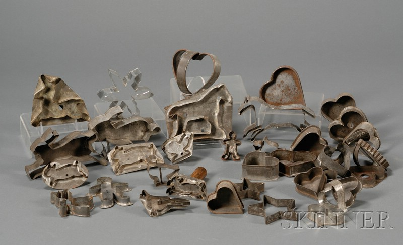 Collection of Thirty-five Tin Cookie Cutters
