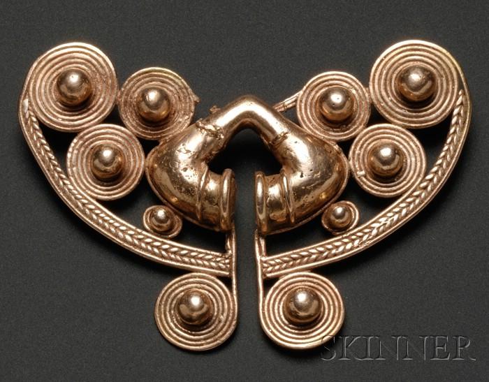Pre-Columbian Gold Nose Ornament