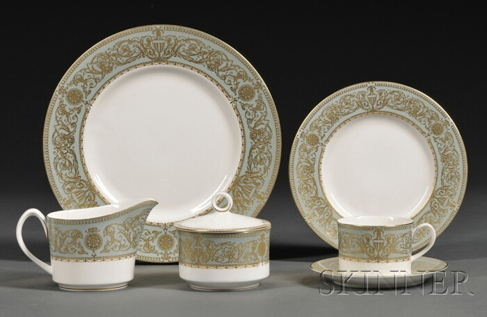 "Royal Worcester ""Balmoral"" Pattern Bone China Luncheon Service"