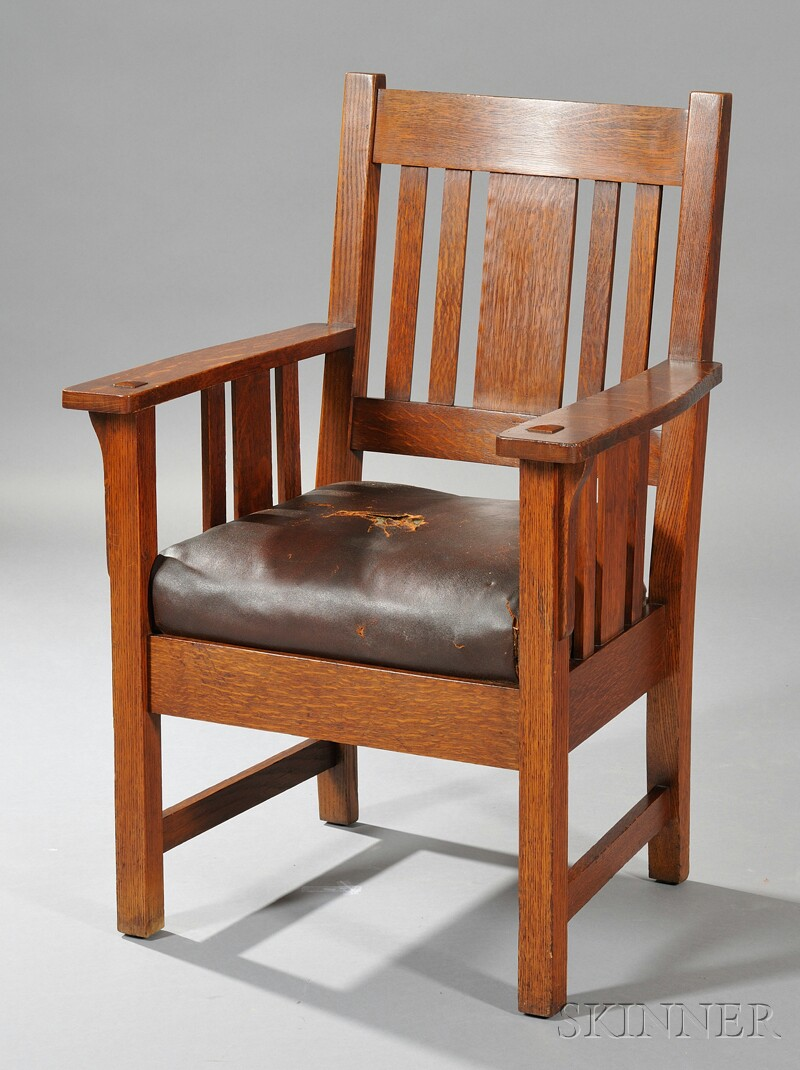 Arts & Crafts Movement Buffalo Chair Works Armchair