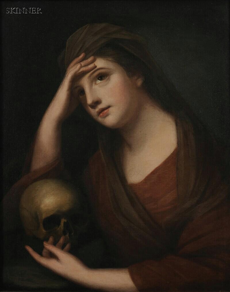 Italian School, 19th Century      Portrait of a Penitent Mary Magdalene