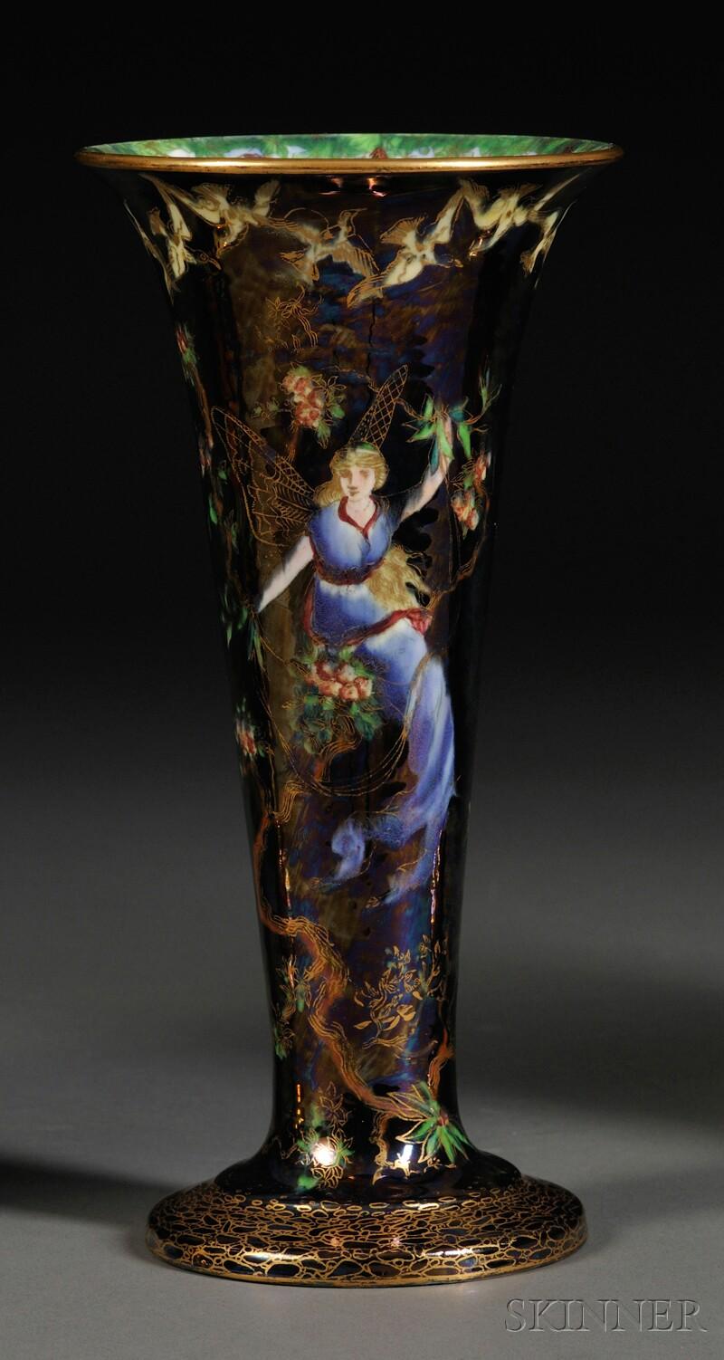Wedgwood Fairyland Lustre Trumpet Vase