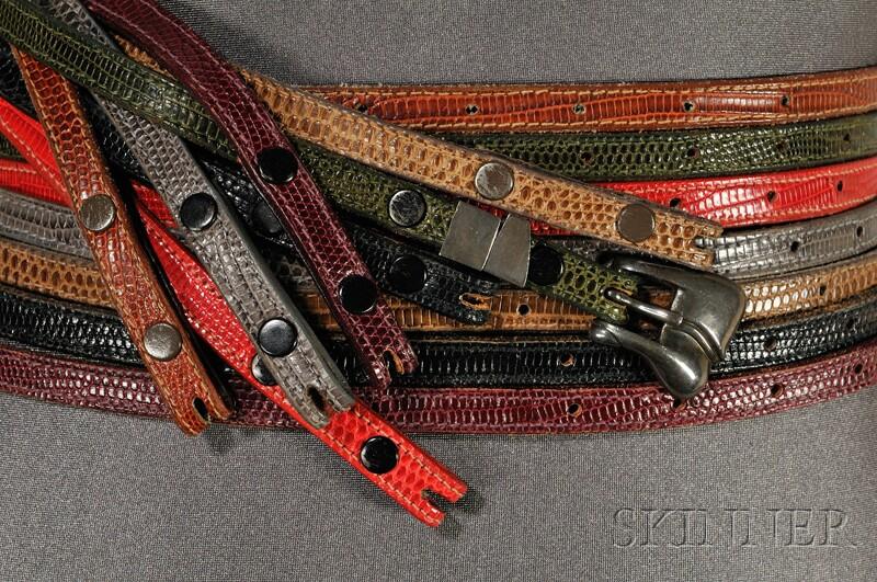 1978 Barry Kieselstein Cord New York Interchangeable Skinny Belt Group