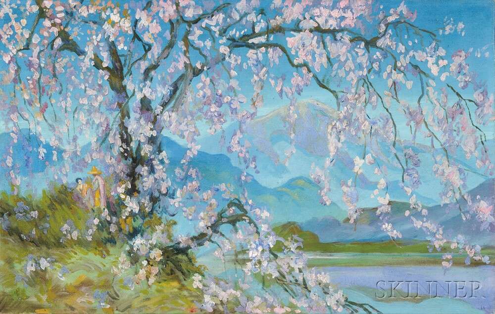 William Penhallow Henderson (American, 1877-1943)      Springtime