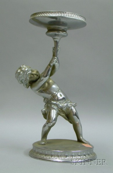 Pairpoint Silver Plated Cherub Figural Presentation Trophy Base