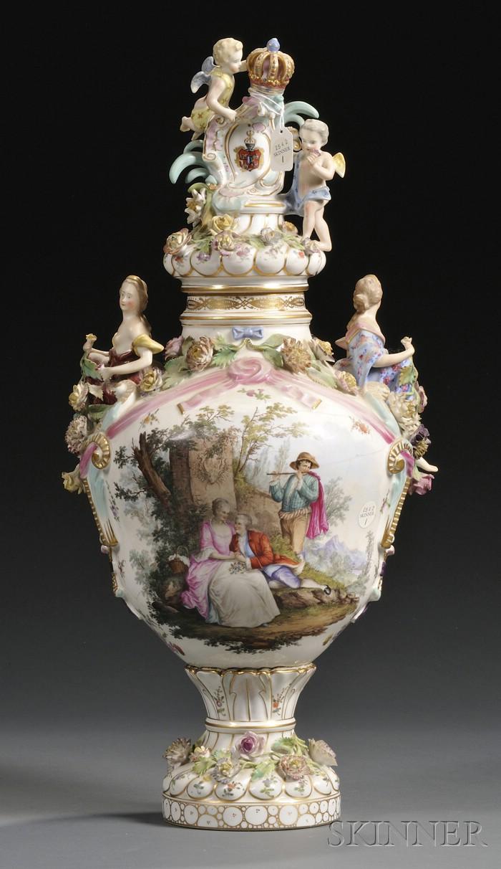Carl Thieme Porcelain Vase and Cover