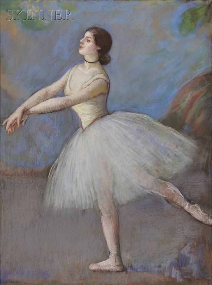 Louis Kronberg (American, 1872-1965)      Dancer in White- Mlle. Cébron, Opera House, Paris