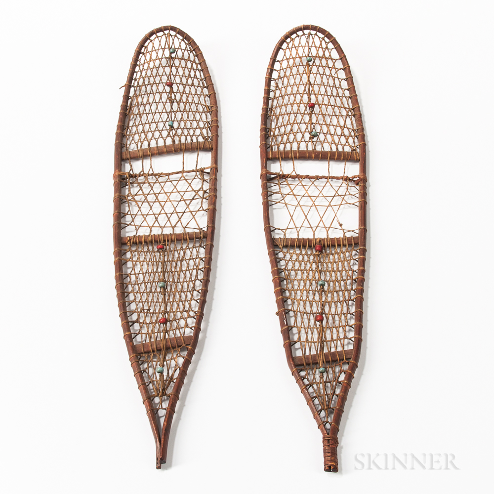 Pair of Miniature Northeast Snowshoes