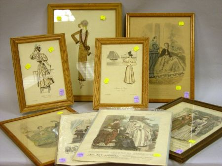 Seven Assorted Fashion Prints and an Illustration
