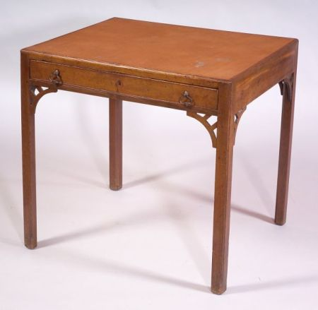 George III Style Mahogany and Leather-top Table