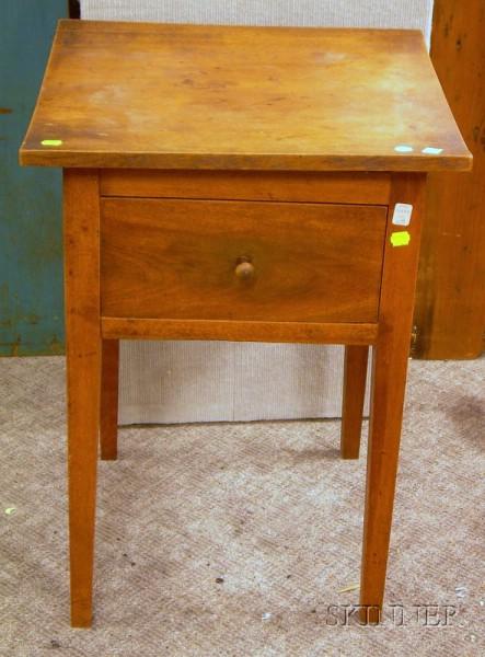 Federal Birch One-Drawer Stand.