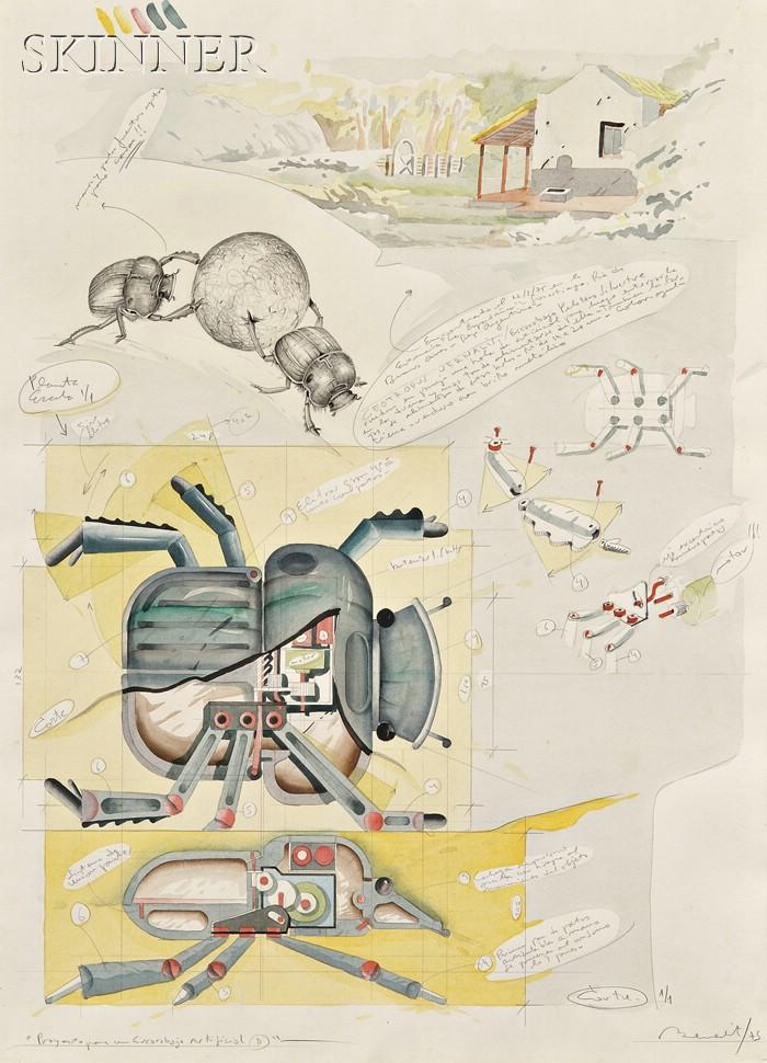 Luis Fernando Benedit  (Argentine, b. 1937)      Proyecto para un Escarabajo Artificial