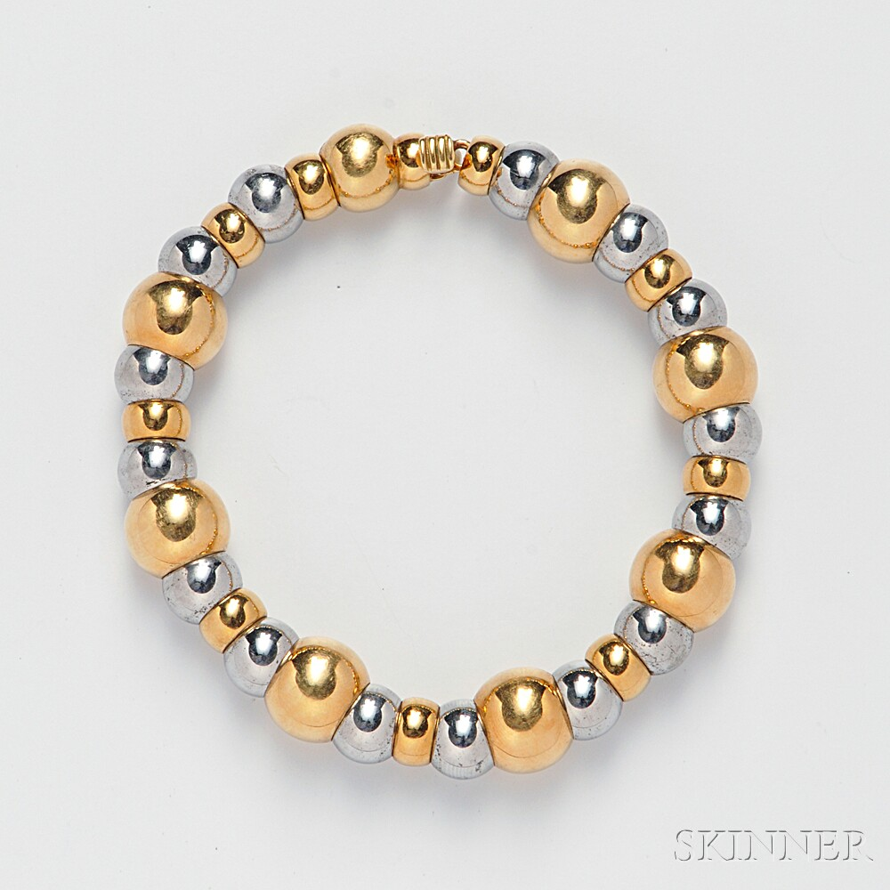 18kt Gold and Stainless Steel Bracelet, Marina B.