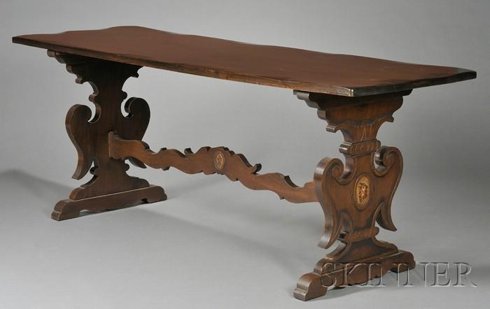 Jacobean Revival Mahogany Library Table