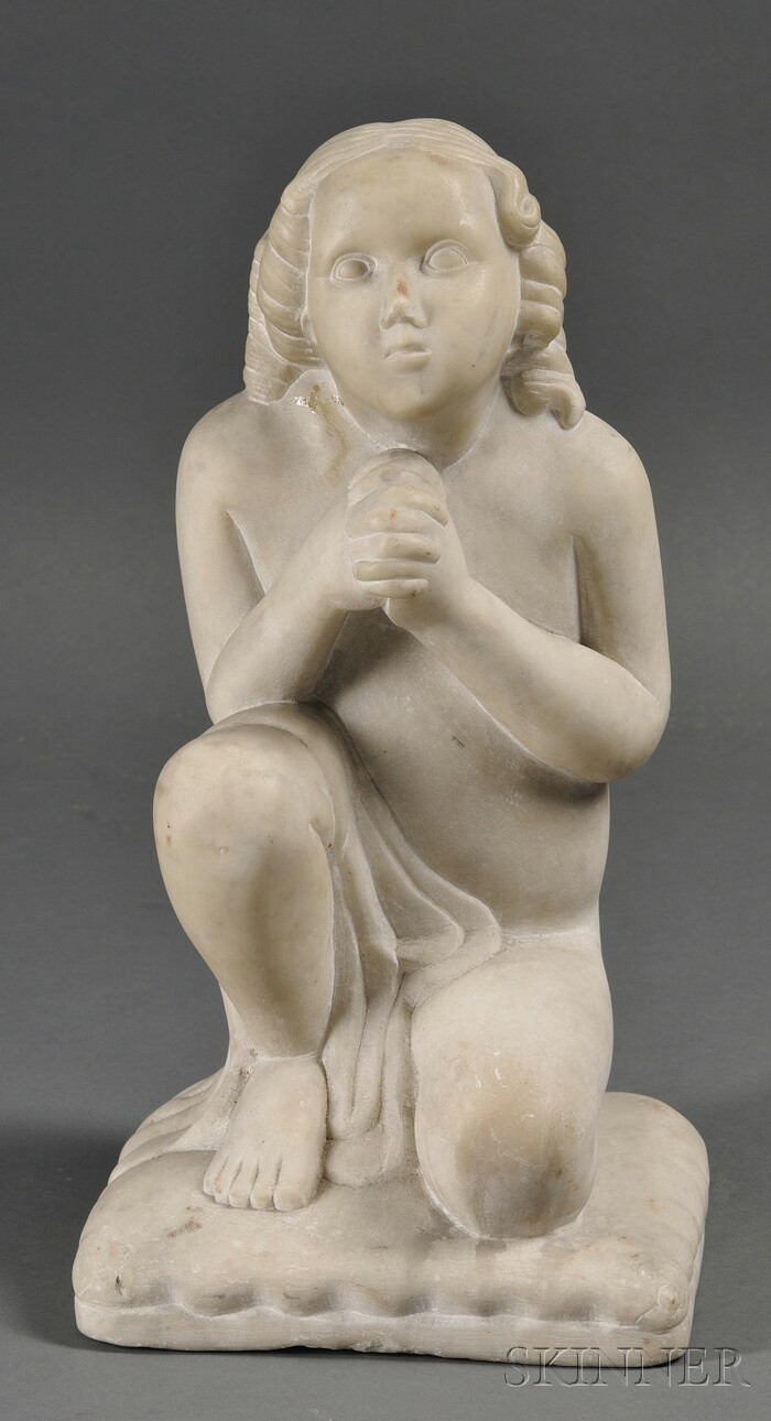 Continental School, 19th Century      Statue of a Kneeling Penitent