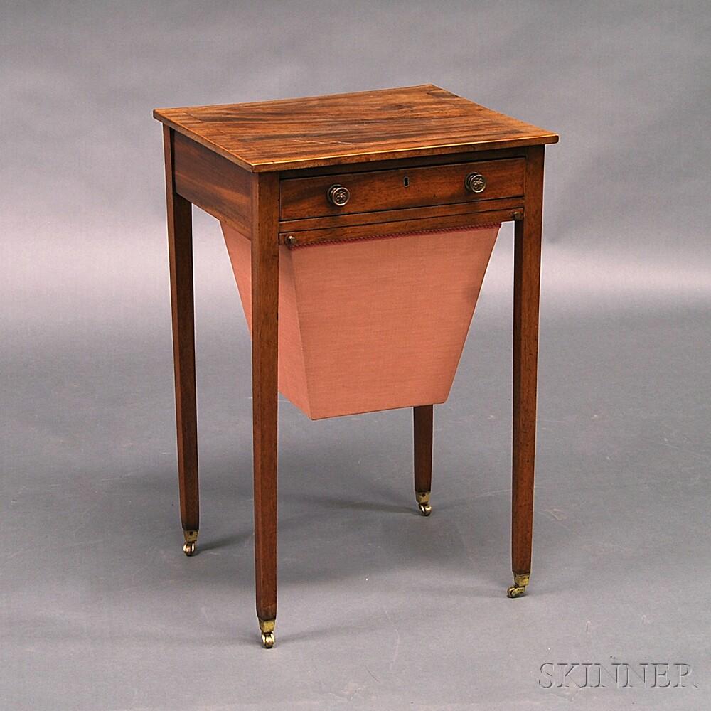 Federal Inlaid Mahogany Sewing Stand