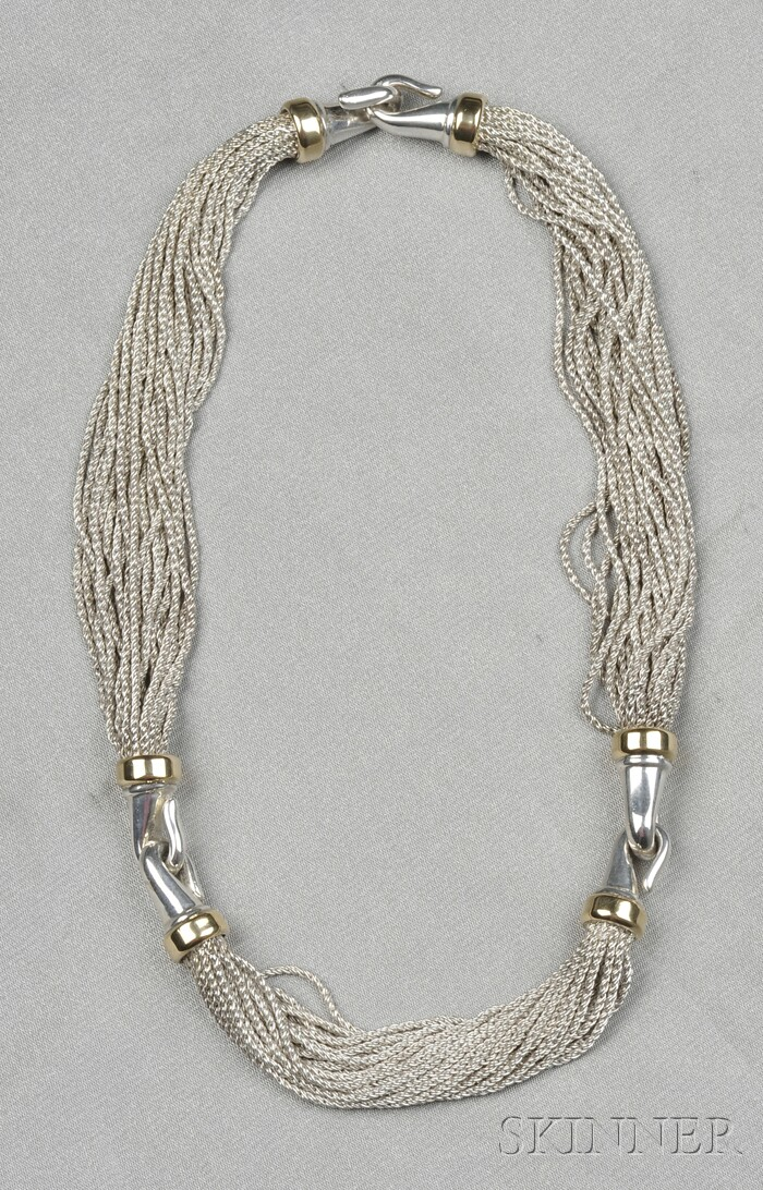 Sterling and 18kt Gold Necklace, Tiffany & Co.