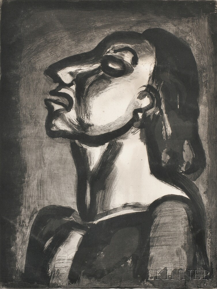 Georges Rouault (French, 1871-1958)      Son Avocat, en phrases creuses, clame sa totale inconscience