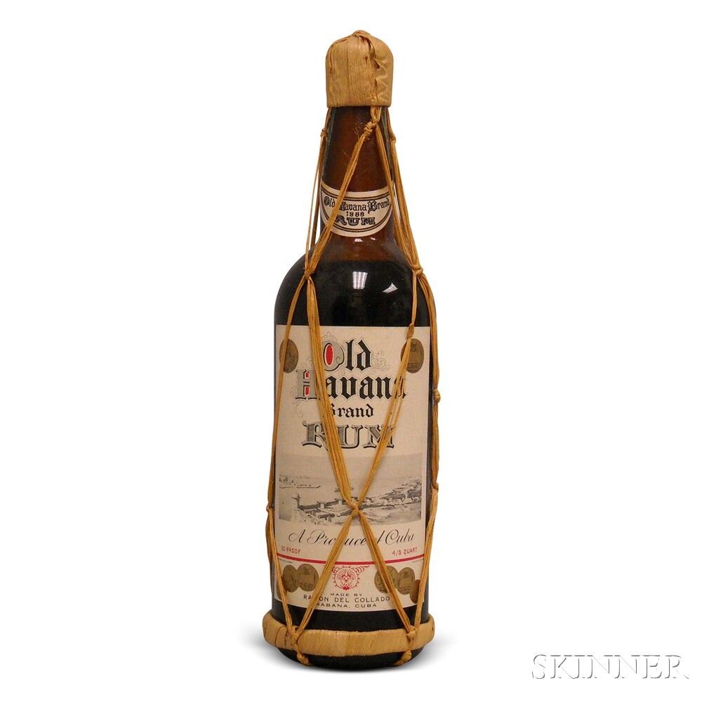 Old Havana Brand Rum, 1 4/5 quart bottle