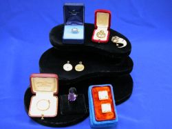 Victorian Gem-set Tooth Pin, Lockets, Rings, Gold and Diamond Earrings, and Cuff-links.