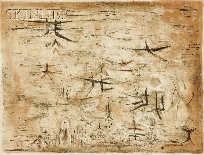 Zao Wou-Ki (Chinese, b. 1921)      Ciel de Paris