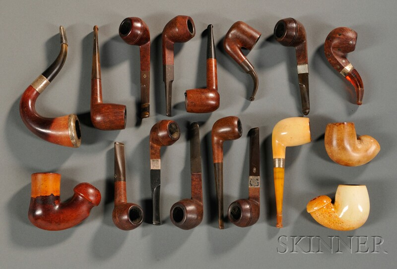 Seventeen Assorted Pipes