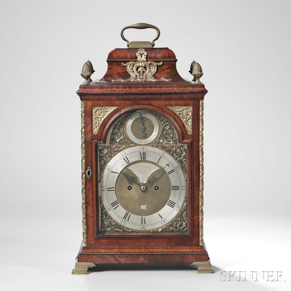Thomas Gardner Mahogany Table Clock